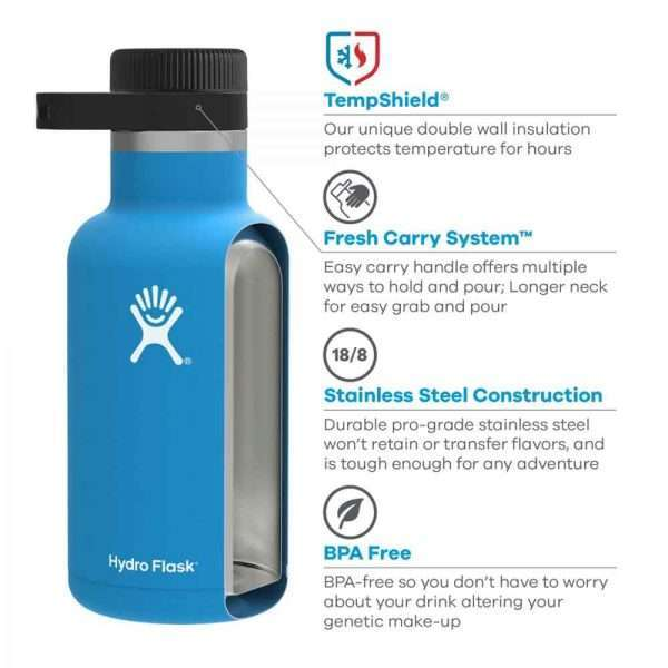 Hydro Flask 64oz Stainless Steel Vacuum Insulated Growler