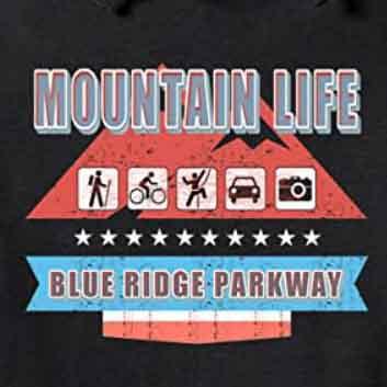 Blue Ridge Parkway Mountain Life Map Icon Hoodie