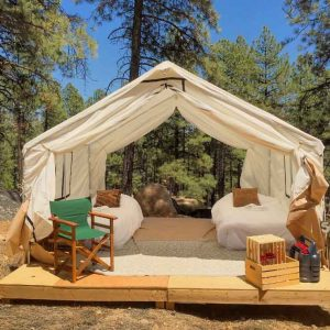 Stout Tent - Safari Glamping Tent - Use Coupon Code LIVEOUTSIDE100 to save $100