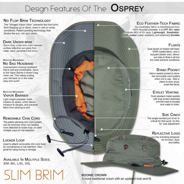 The OSPREY Performance Sun Hat from Shelta